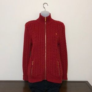 Ralph Lauren red sweater, size M